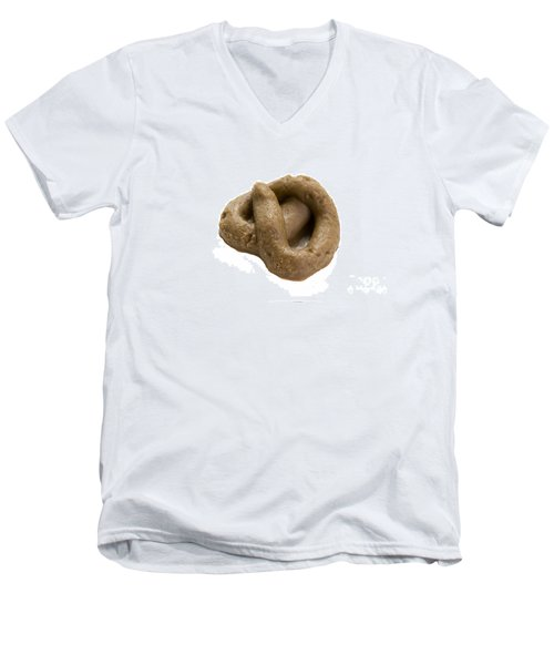 Men's V-Neck T-Shirt featuring the photograph Fake Dog Poop by Lee Avison