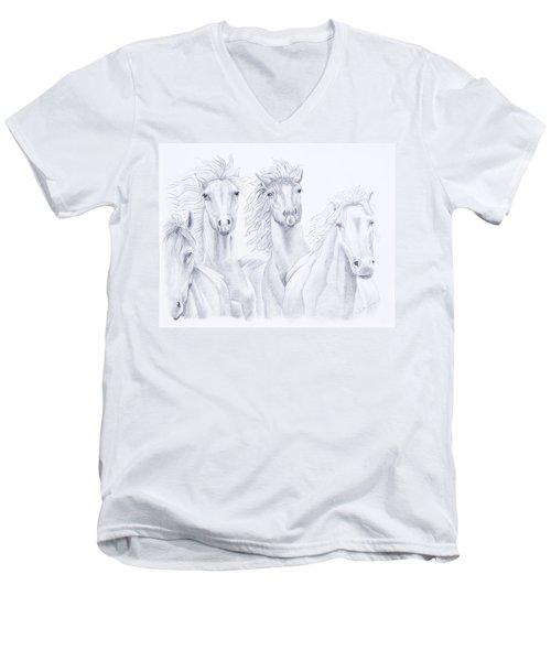 Four For Freedom Men's V-Neck T-Shirt