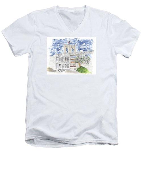 1 Front Street In Brooklyn Men's V-Neck T-Shirt by AFineLyne