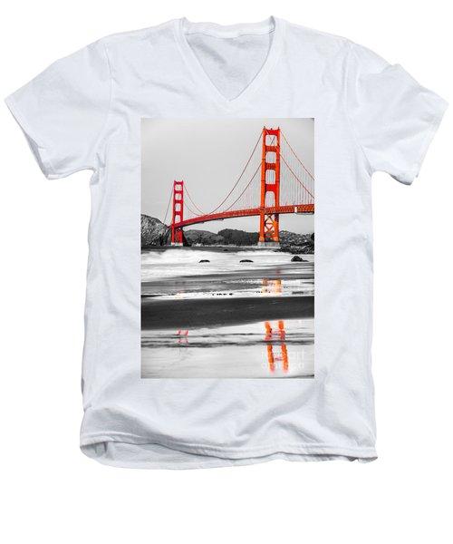 Golden Gate - San Francisco - California - Usa Men's V-Neck T-Shirt