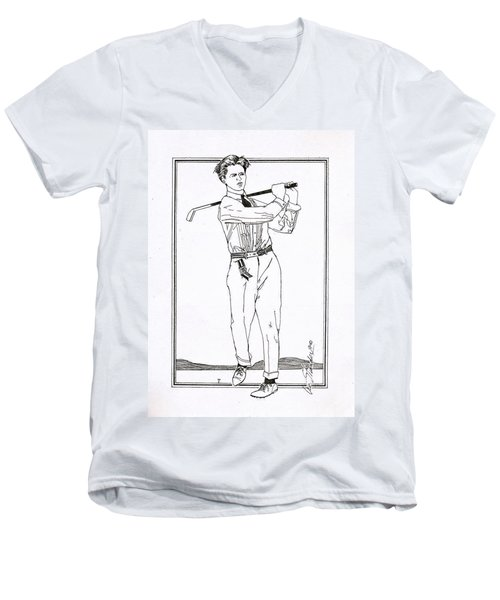 Golfer 1915 Men's V-Neck T-Shirt