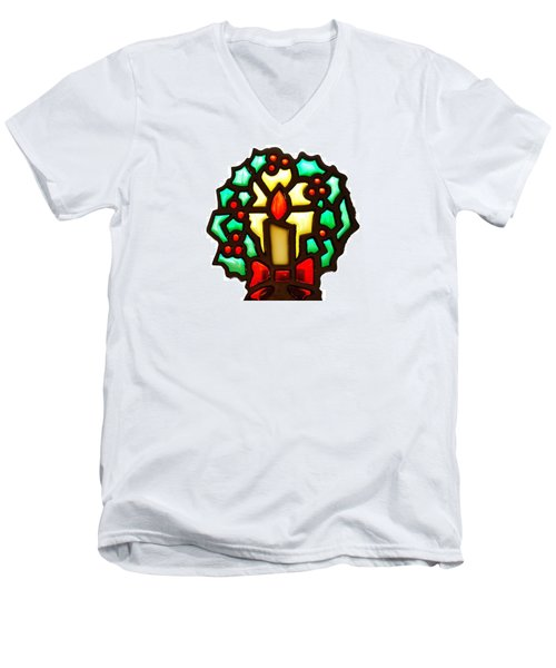 Happy Holidays Men's V-Neck T-Shirt by Ludwig Keck