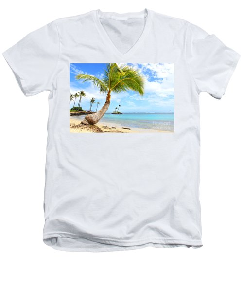 Men's V-Neck T-Shirt featuring the photograph Hawaiian Paradise by Kristine Merc