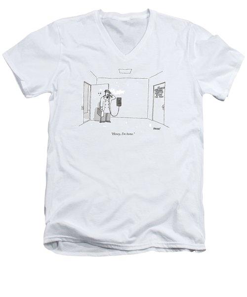 Honey, I'm Home Men's V-Neck T-Shirt
