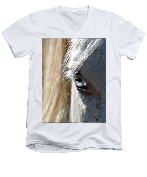 Horse Eye Men's V-Neck T-Shirt by Savannah Gibbs