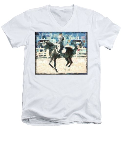 Men's V-Neck T-Shirt featuring the photograph In The Air by Alice Gipson