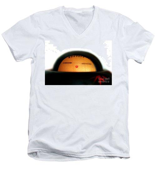 Men's V-Neck T-Shirt featuring the photograph Japanese Doll by Henrik Lehnerer