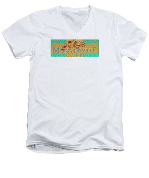 Jimmy Buffetts Margaritaville Cafe Sign The Original Men's V-Neck T-Shirt