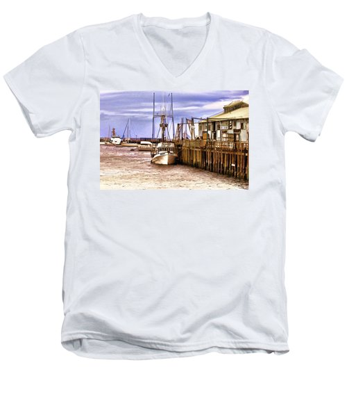 Men's V-Neck T-Shirt featuring the painting Kristy by Muhie Kanawati