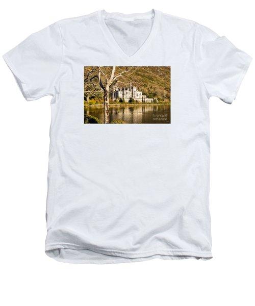 Kylemore Abbey In Winter Men's V-Neck T-Shirt