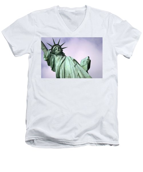 Liberty Lady Men's V-Neck T-Shirt