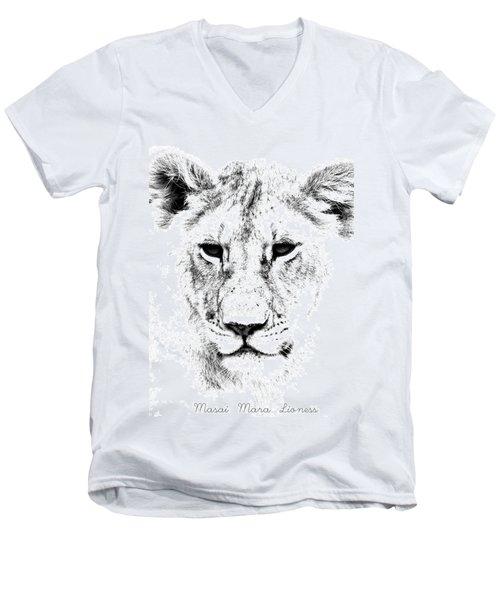 Lion Portrait Men's V-Neck T-Shirt