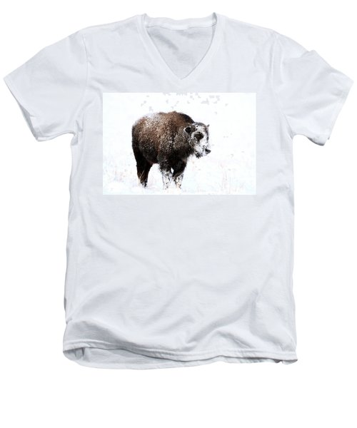 Lone Calf Men's V-Neck T-Shirt