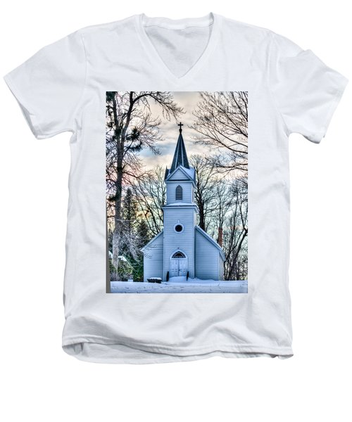 Maria Chapel Men's V-Neck T-Shirt by Paul Freidlund