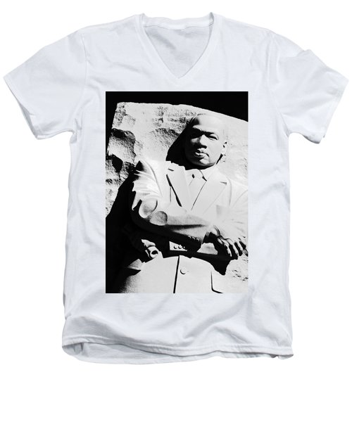 Men's V-Neck T-Shirt featuring the photograph Martin Luther King Memorial by Cora Wandel