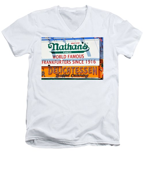Nathan's Sign Men's V-Neck T-Shirt