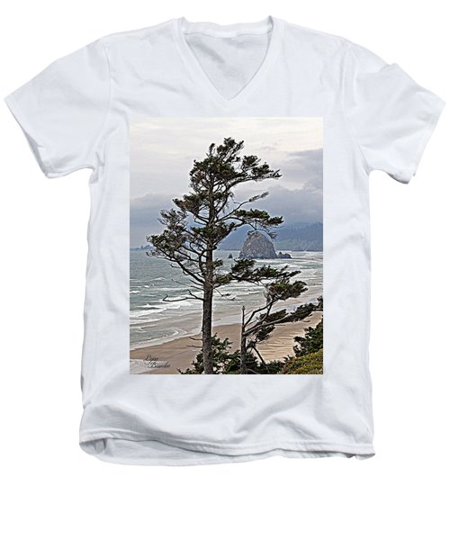 Oregon Coastline Men's V-Neck T-Shirt