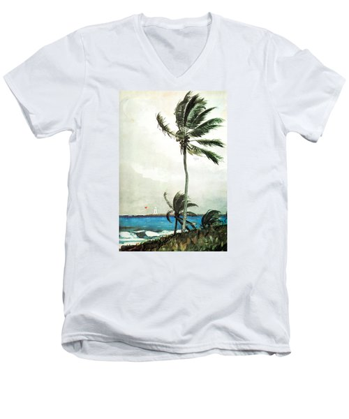 Palm Tree Nassau Men's V-Neck T-Shirt