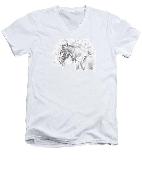 Patience Men's V-Neck T-Shirt by Kate Black