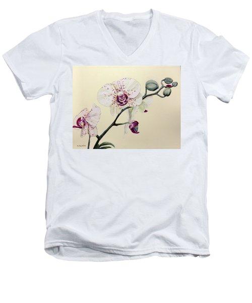 Phalaenopsis Black Panther Orchid Men's V-Neck T-Shirt