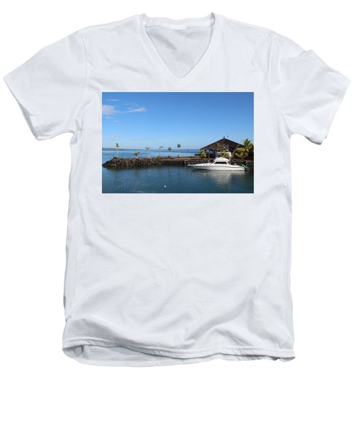 Men's V-Neck T-Shirt featuring the photograph Quiet Bay by Sergey Lukashin