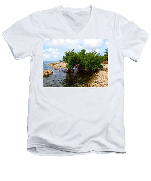 Men's V-Neck T-Shirt featuring the photograph Reclamation 7 by Amar Sheow