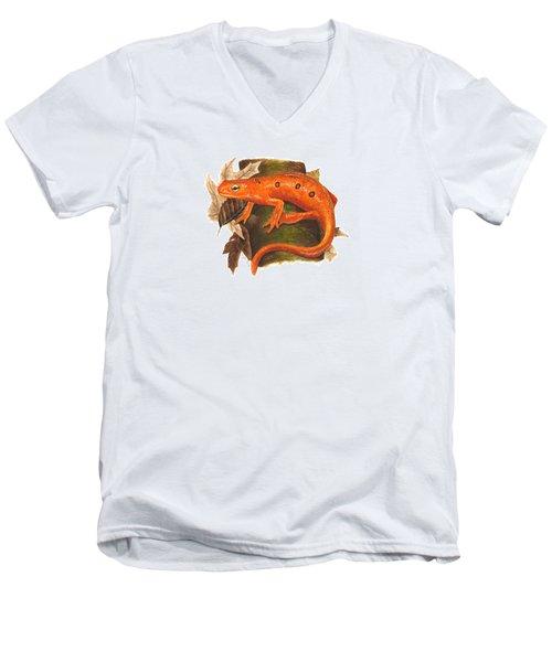 Red Eft Men's V-Neck T-Shirt