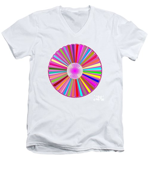 Colorful Signature Art Chakra Round Mandala By Navinjoshi At Fineartamerica.com Rare Fineart Images  Men's V-Neck T-Shirt