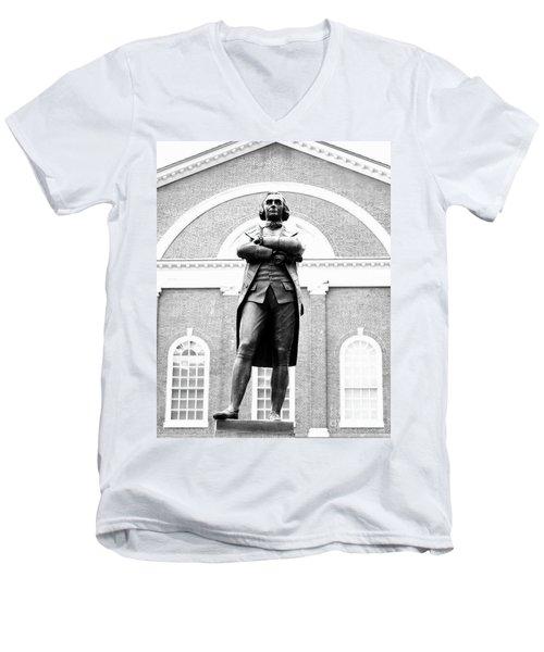 Samuel Adams Statue, State House Boston Ma Men's V-Neck T-Shirt