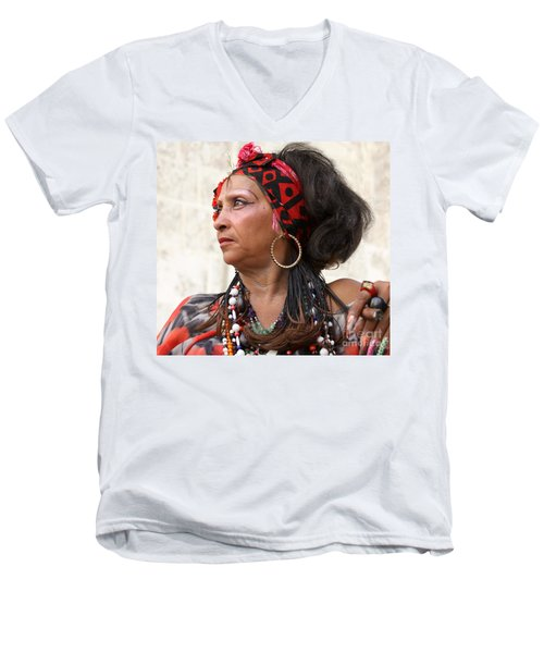 Santeria Woman Men's V-Neck T-Shirt