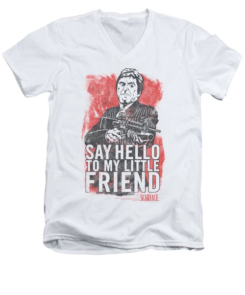 Scarface - Little Friend Men's V-Neck T-Shirt