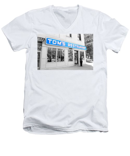 Seinfeld Diner Location Men's V-Neck T-Shirt