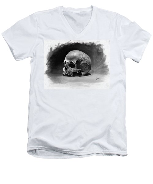 Skull Men's V-Neck T-Shirt