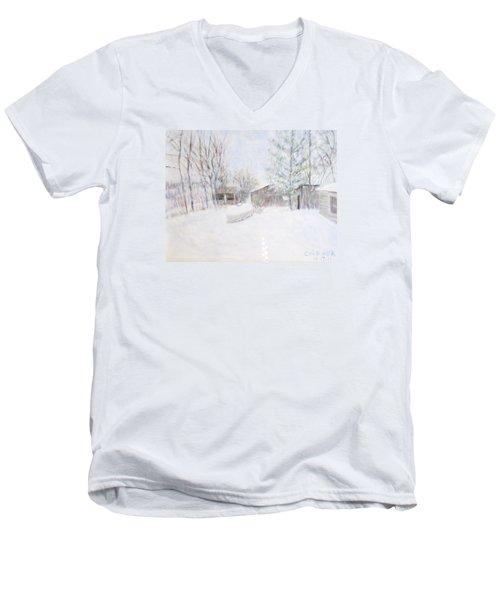 Snowy February Day Men's V-Neck T-Shirt