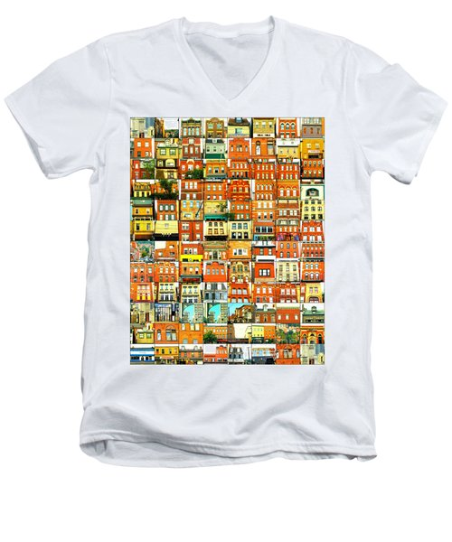 Southside Pittsburgh Men's V-Neck T-Shirt by Joe Jake Pratt