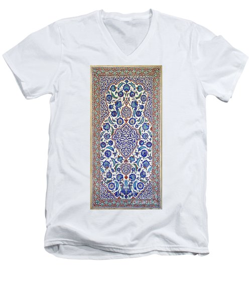 Sultan Selim II Tomb 16th Century Hand Painted Wall Tiles Men's V-Neck T-Shirt