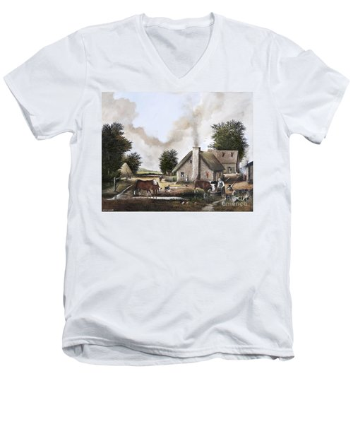 The Farmyard Men's V-Neck T-Shirt