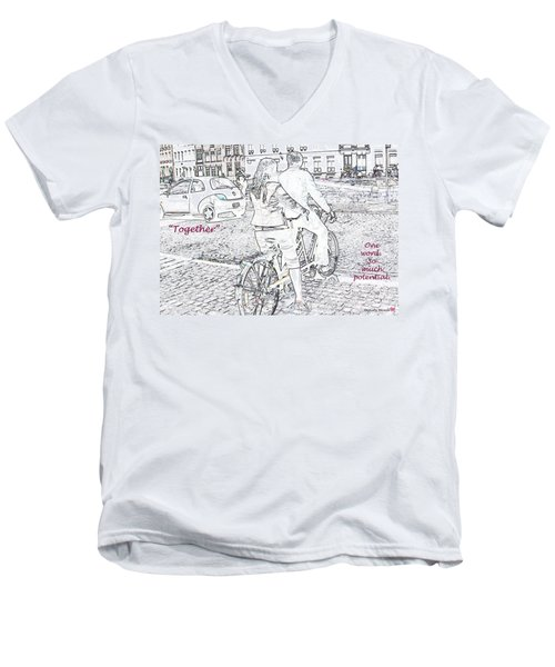 Together Men's V-Neck T-Shirt by Rhonda McDougall