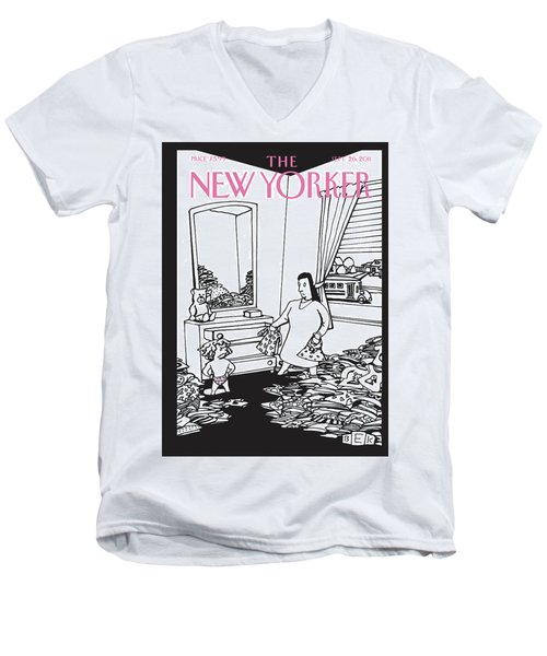 New Yorker September 26th, 2011 Men's V-Neck T-Shirt