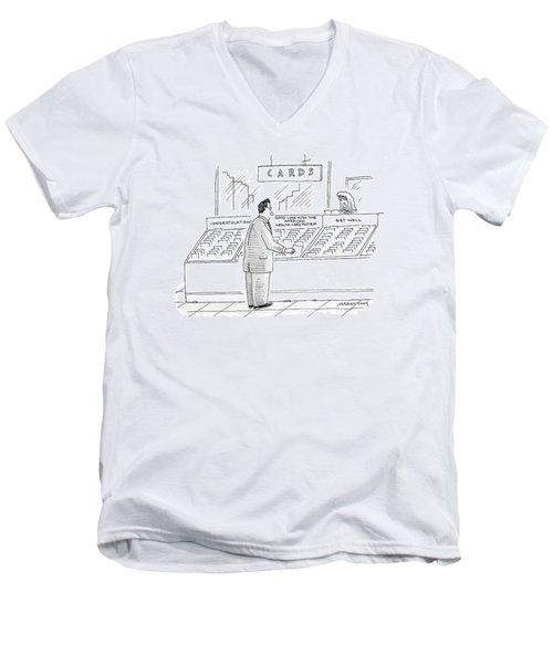 New Yorker September 24th, 2007 Men's V-Neck T-Shirt