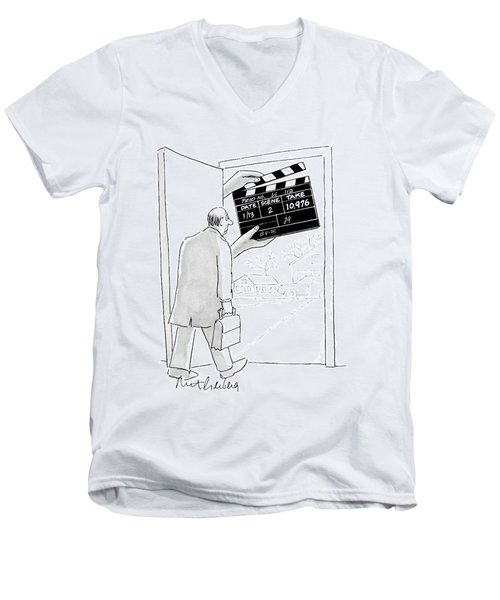 New Yorker November 28th, 2005 Men's V-Neck T-Shirt
