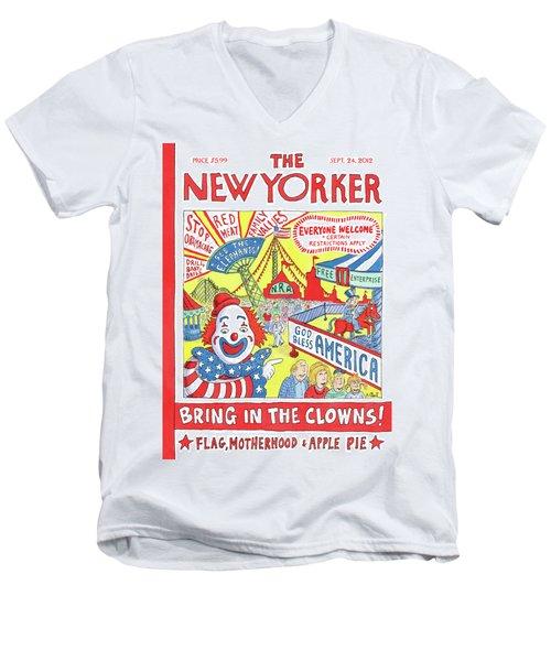 New Yorker September 24th, 2012 Men's V-Neck T-Shirt