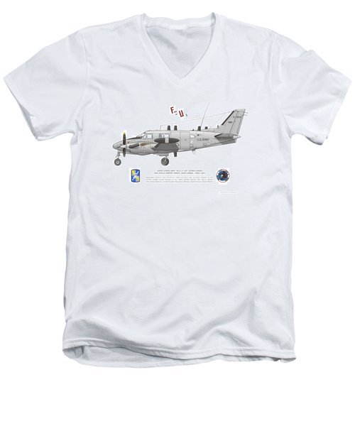 U.s. Army Ru-21a Men's V-Neck T-Shirt