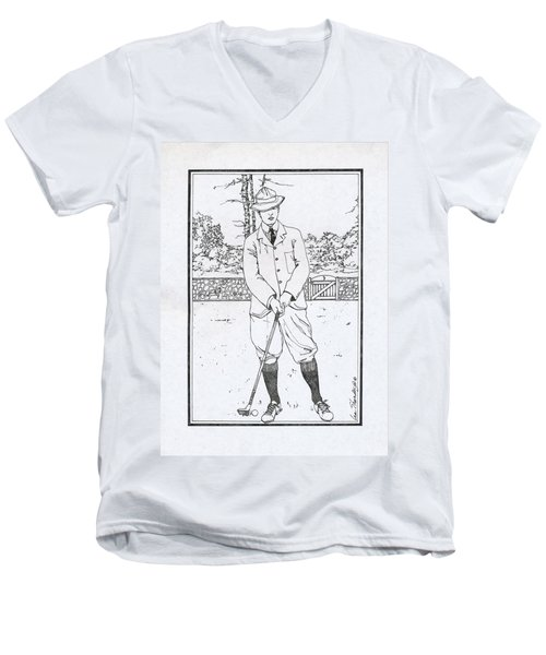Vintage Golfer Men's V-Neck T-Shirt