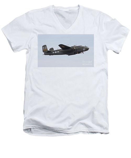 Vintage World War II Bomber Men's V-Neck T-Shirt
