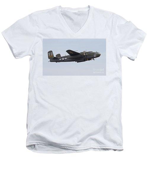 Vintage World War II Bomber Men's V-Neck T-Shirt