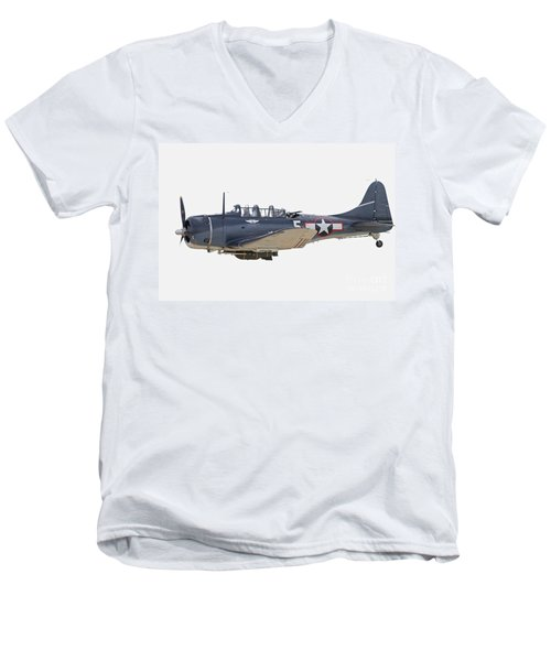 Vintage World War II Dive Bomber Men's V-Neck T-Shirt