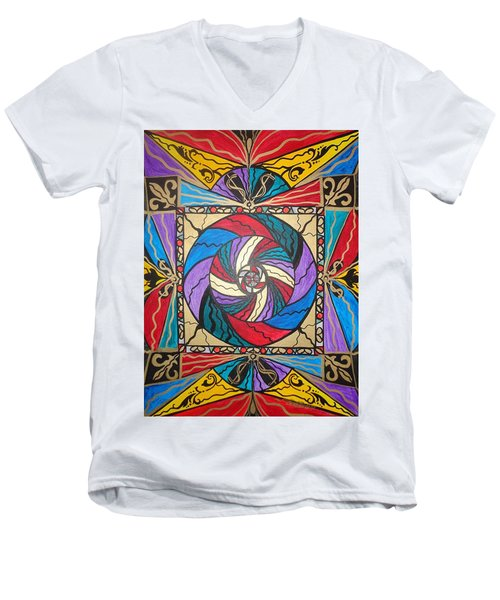 Wealth  Men's V-Neck T-Shirt