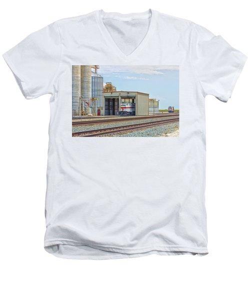Foster Farms Locomotives Men's V-Neck T-Shirt by Jim Thompson