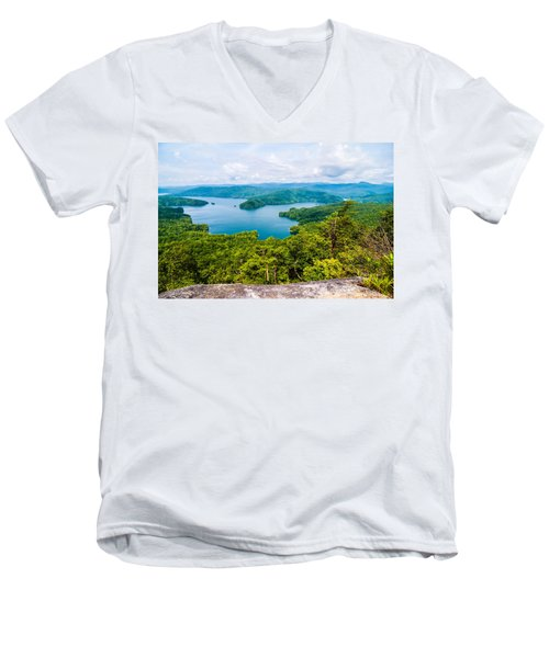 Scenery Around Lake Jocasse Gorge Men's V-Neck T-Shirt